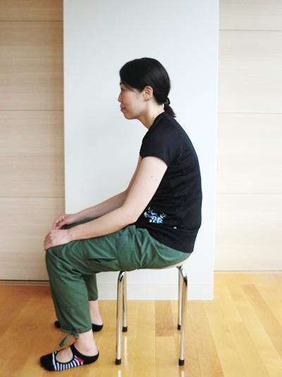 座った姿勢の例
